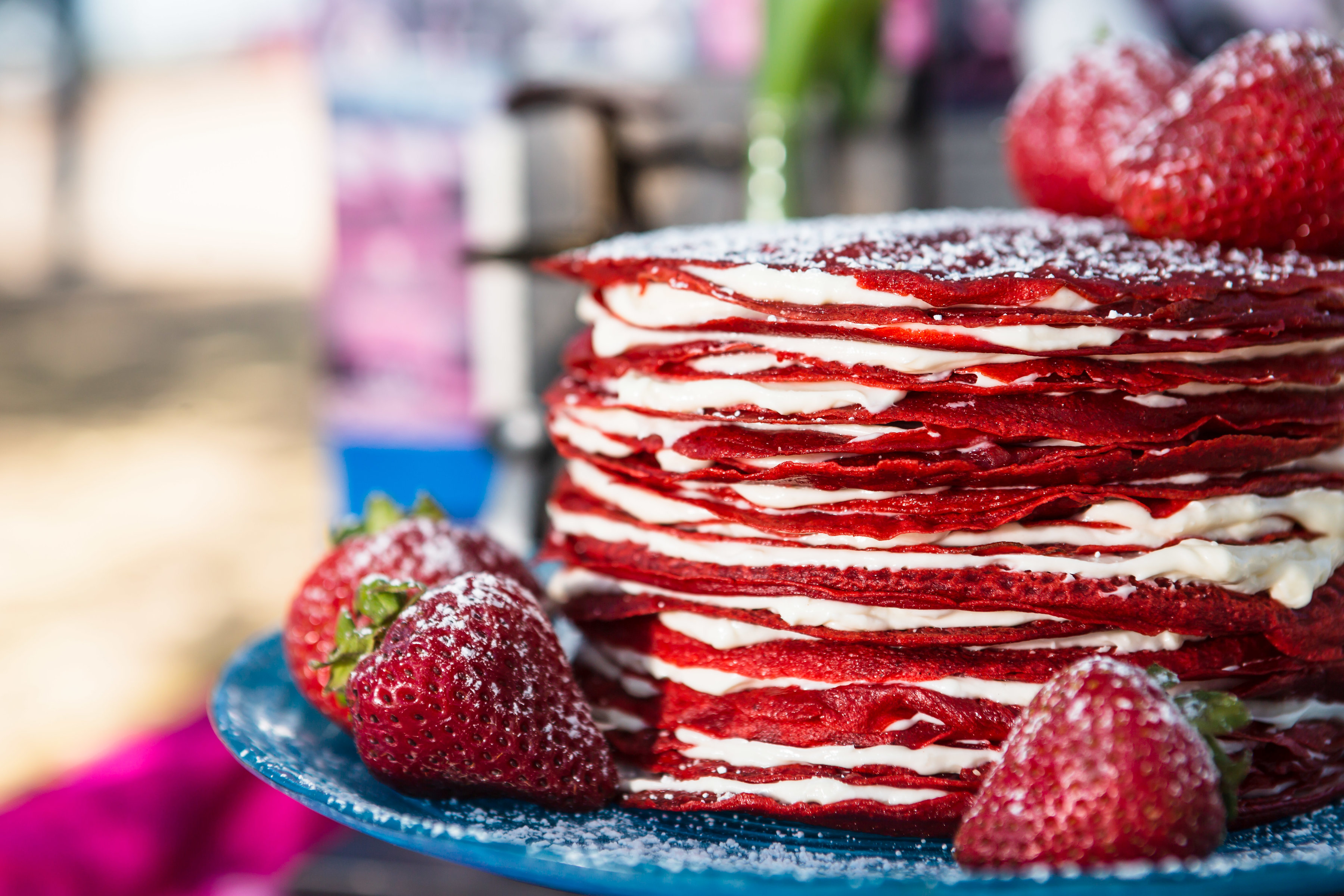 Red Velvet Crepe Cake for Brunch Wed