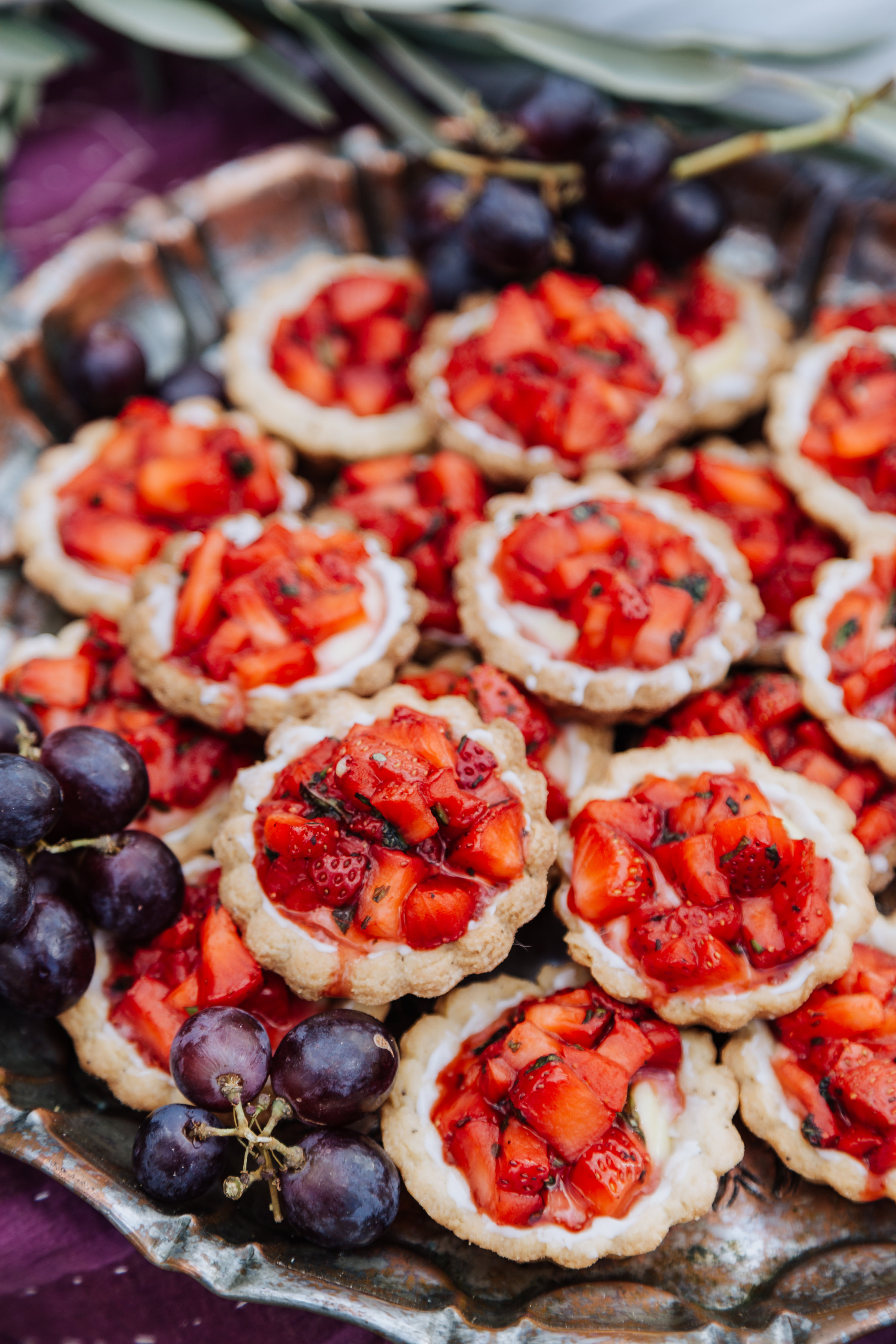 Strawberry Basil Tartlets