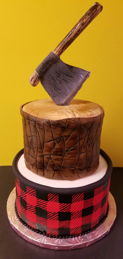 Fondant Lumberjack Cake