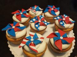 American Pinwheel Cupcakes