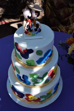 Rainbow Fiesta Wedding Cake