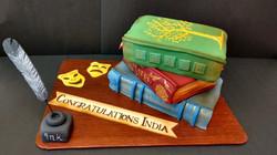Book Stack Cake
