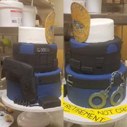 Police Officer Retirement Cake