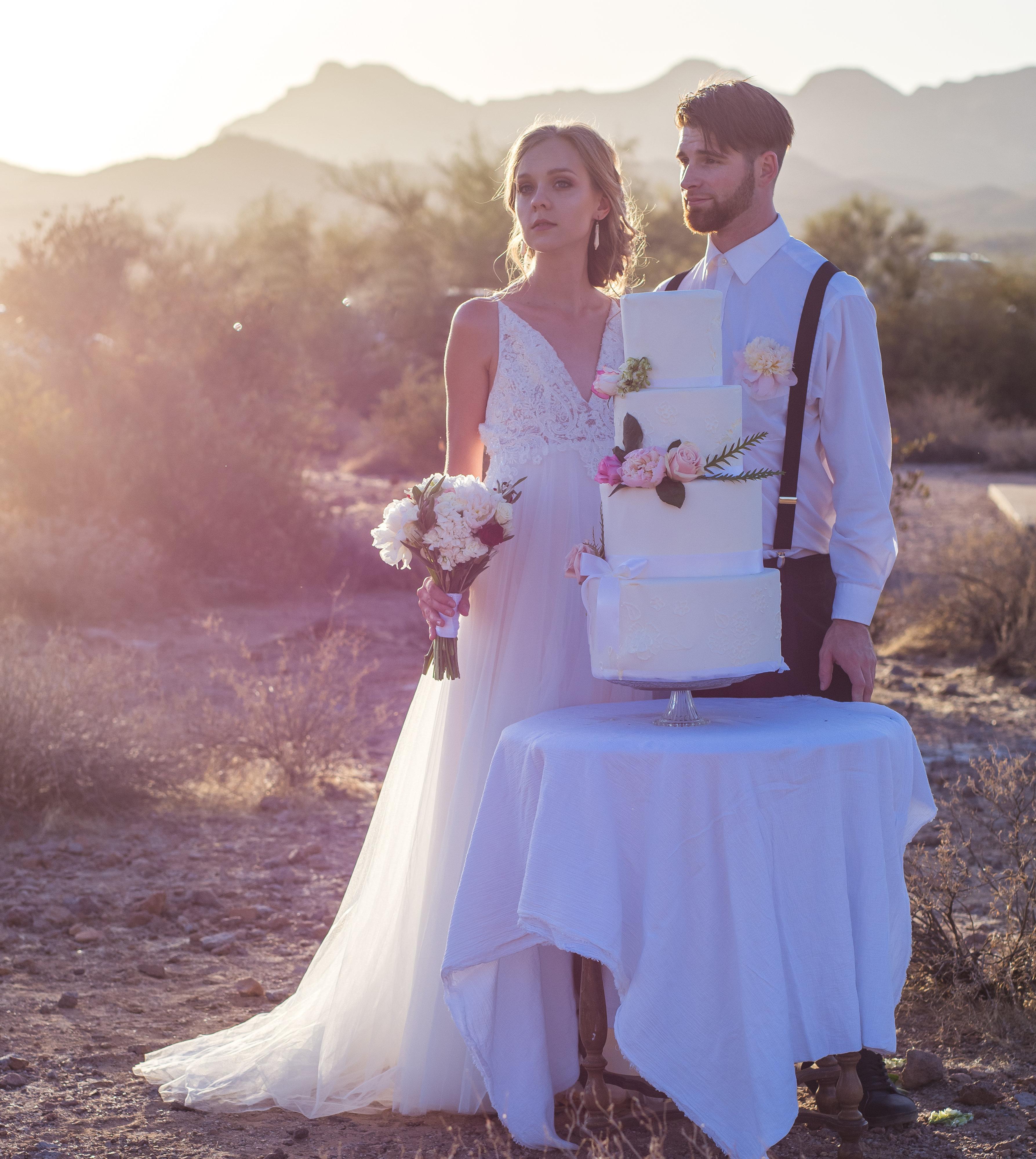 Classic 4 Tier White Wedding Cake