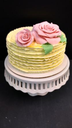 Ruffles and Rose Cake