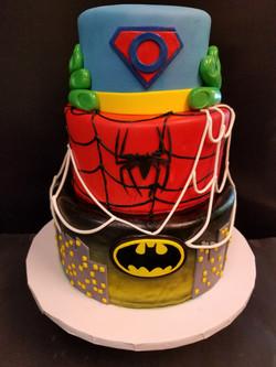 Super Oliver Marvel Birthday Cake