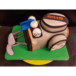 Golf Club Bag Fondant Cake