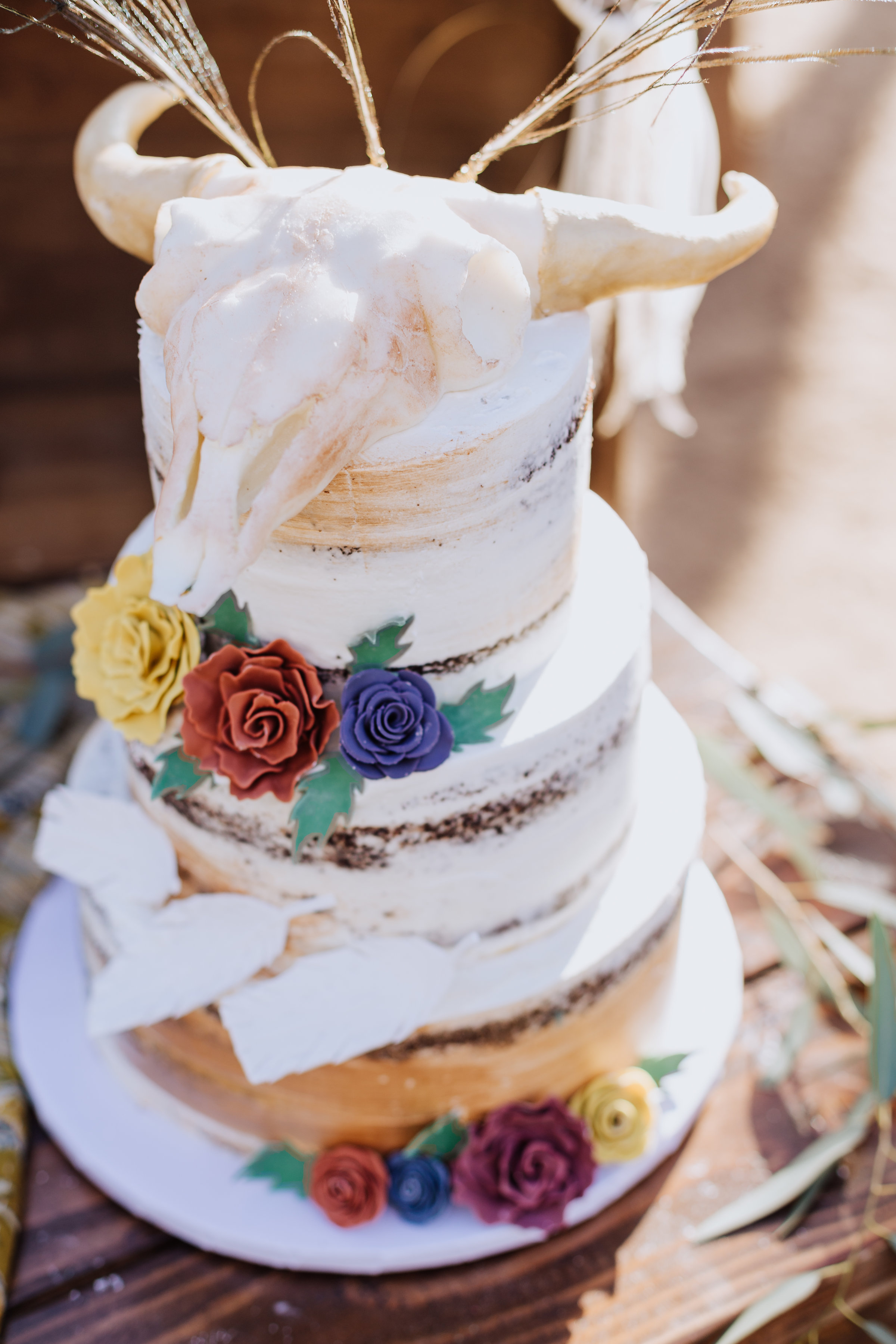Rustic Bohemian Wedding Cake