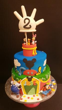 Mickey Mouse Hot Air Balloon Cake