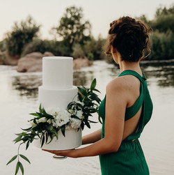 Clean White Wedding Cake