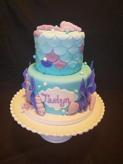 Purple Mermaid Cake