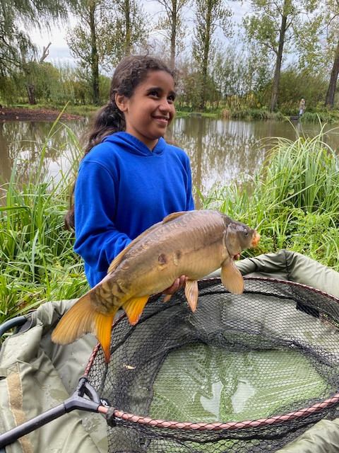 Young Mariam's catch