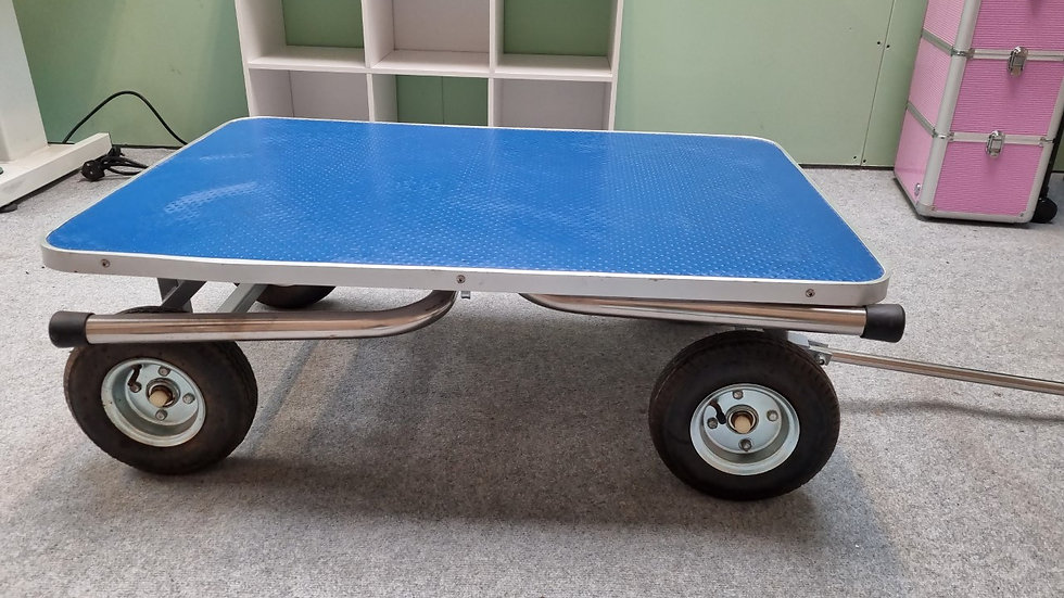 Blue Trolley Table