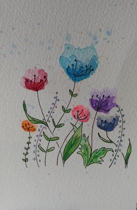 lil flower card