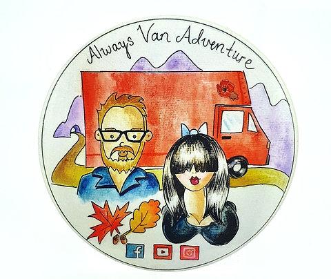 Always Van Adventure Sticker