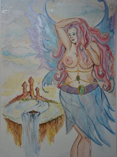 Fairy original watercolor
