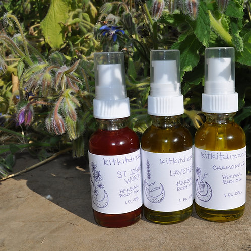 Herbal Body Oil Trio - 1 oz bottles