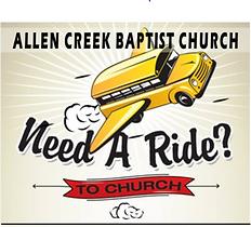 Allen Creek Baptist Chuch Bus Ministry in Marysville