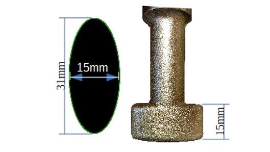 31mm Oval Tip - 008Ø31