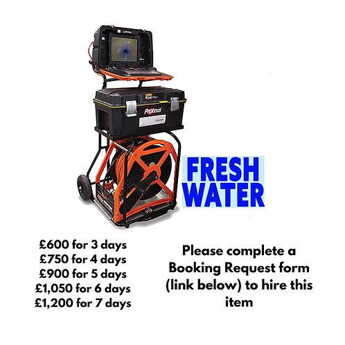 Dedicated fresh water Mini Cam Proteus Crawler with 250m reel