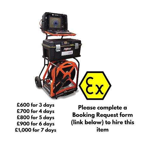 ATEX Zone 1 Mini Cam Proteus Crawler with 250m reel