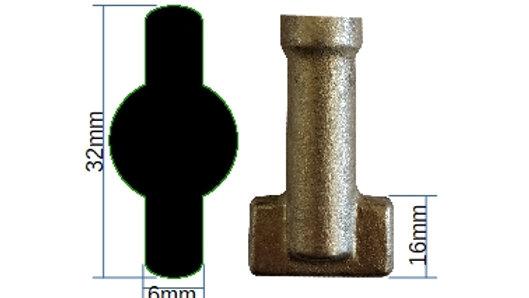 32mm Flat Tip - 002F32
