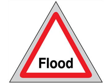 Flood roll-up sign