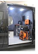 CCTV and Jetter hire van (side view with side door open)