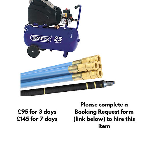 Lining packer inflation kit with compressor