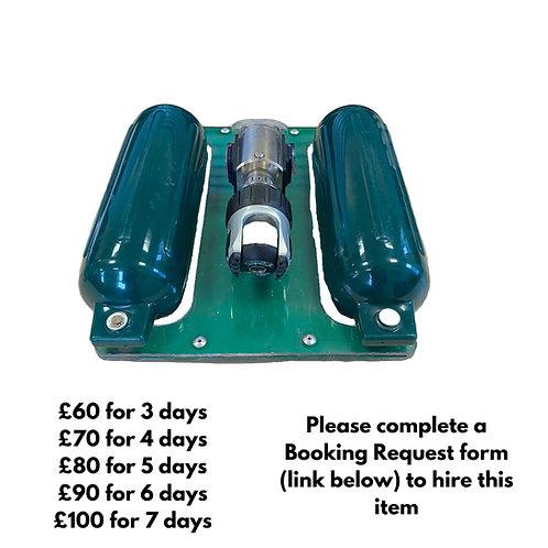 Small drain camera floatation raft