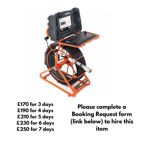 Mini Cam Solo Pro+ with 60m reel for hire