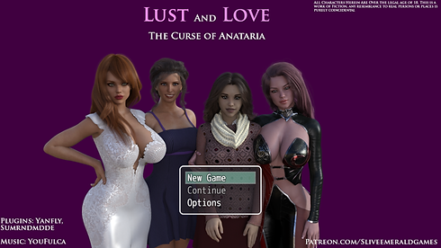 Love and Lust The Curse of Anataria Main