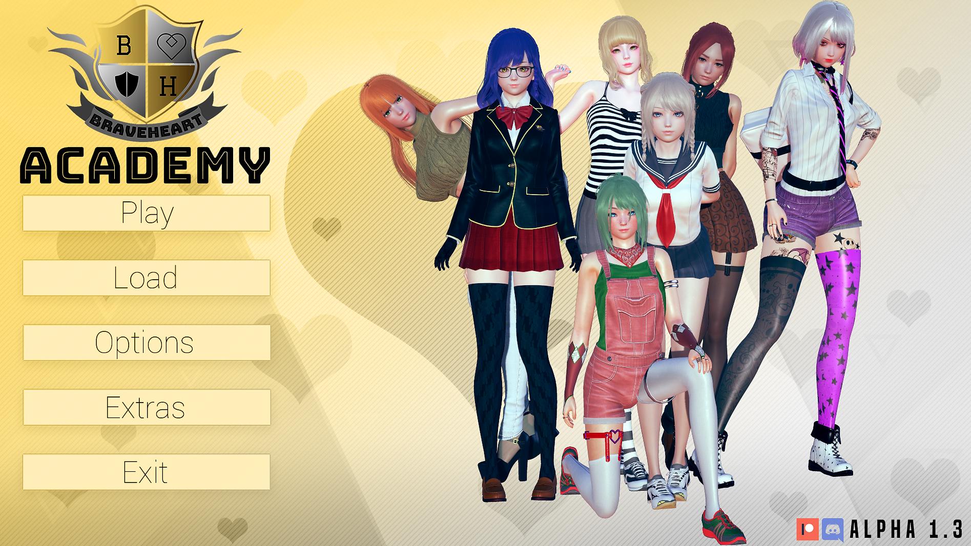 Braveheart Academy Main - Haru's Harem.p