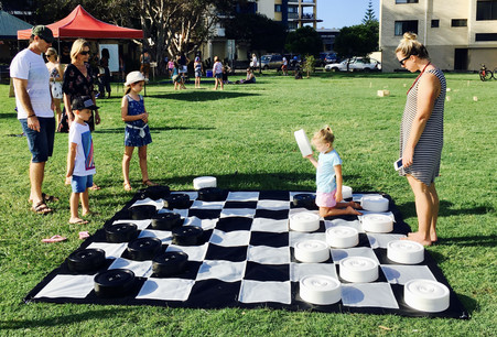 Giant Checkers Game Hire Sunshine Coast