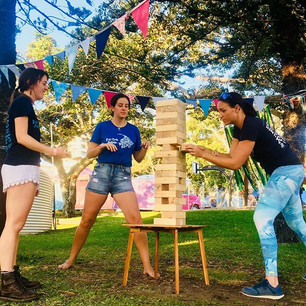 Giant Jenga Game Hire Sunshine Coast Caloundra Music Festival
