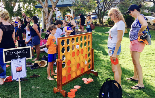 Brisbane Outdoor Games Giant Connect Four Game Hire Sunshine Coast Wedding Events