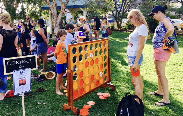 Giant Connect Four Game Hire Sunshine Coast Wedding Events
