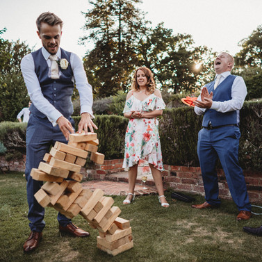 Giant Jenga Game Hire Sunshine Coast Wedding