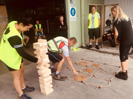 Outdoor Games Giant Jenga Naughts and Crosses Team Building Game Hire Event Hire