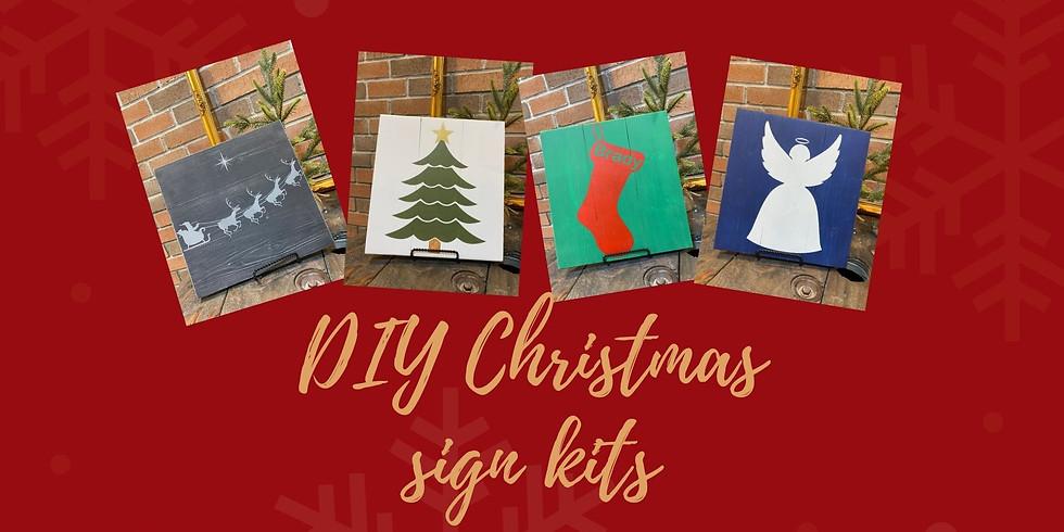 DIY Christmas sign kits