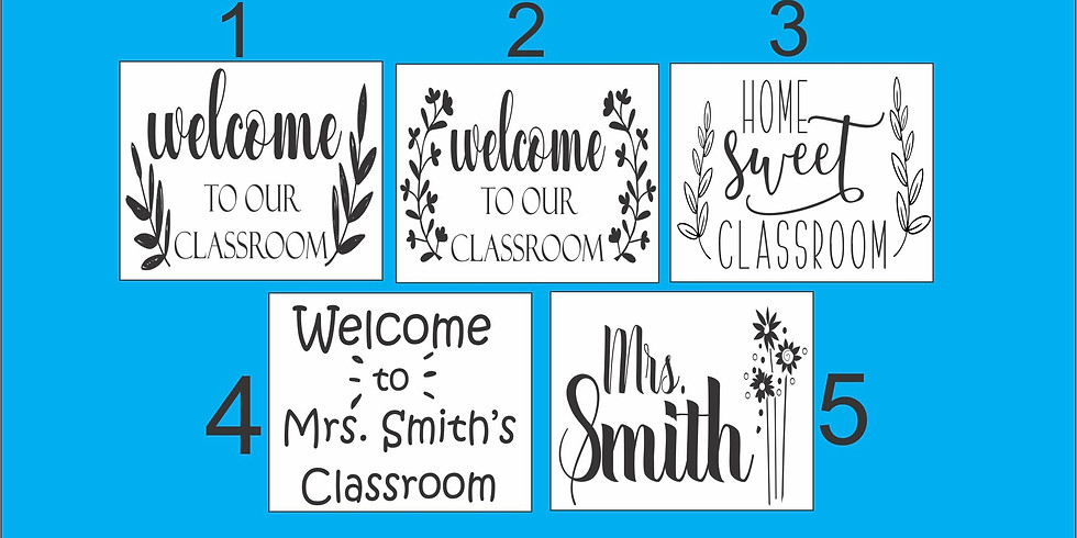 Airport Teachers **classroom sign** class