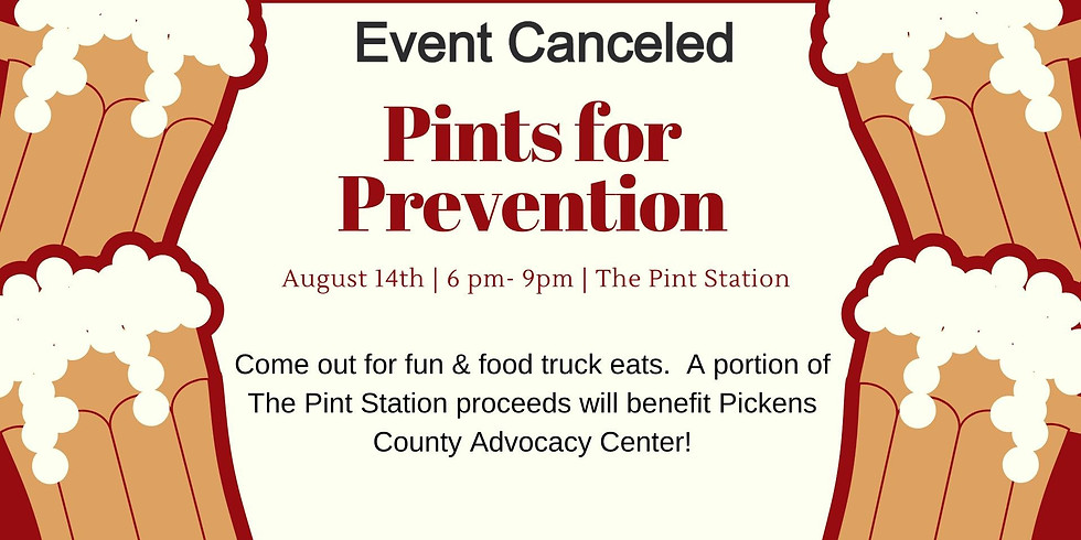 Cancelled - Pints for Prevention