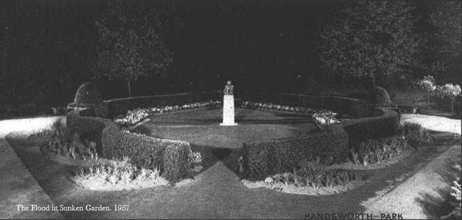 Sunken Garden in 1937