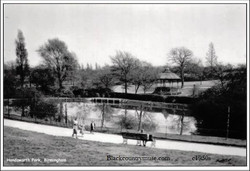 View over small pool to Bandstand