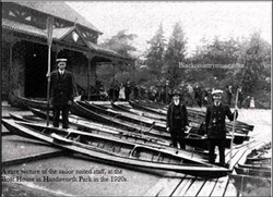 1920s Boathouse and Staff