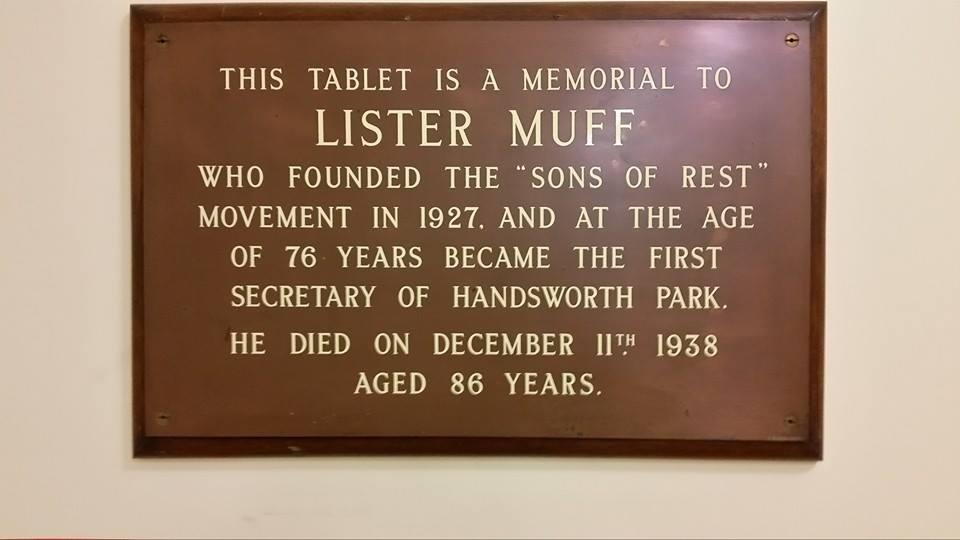 Lister Muff Plaque