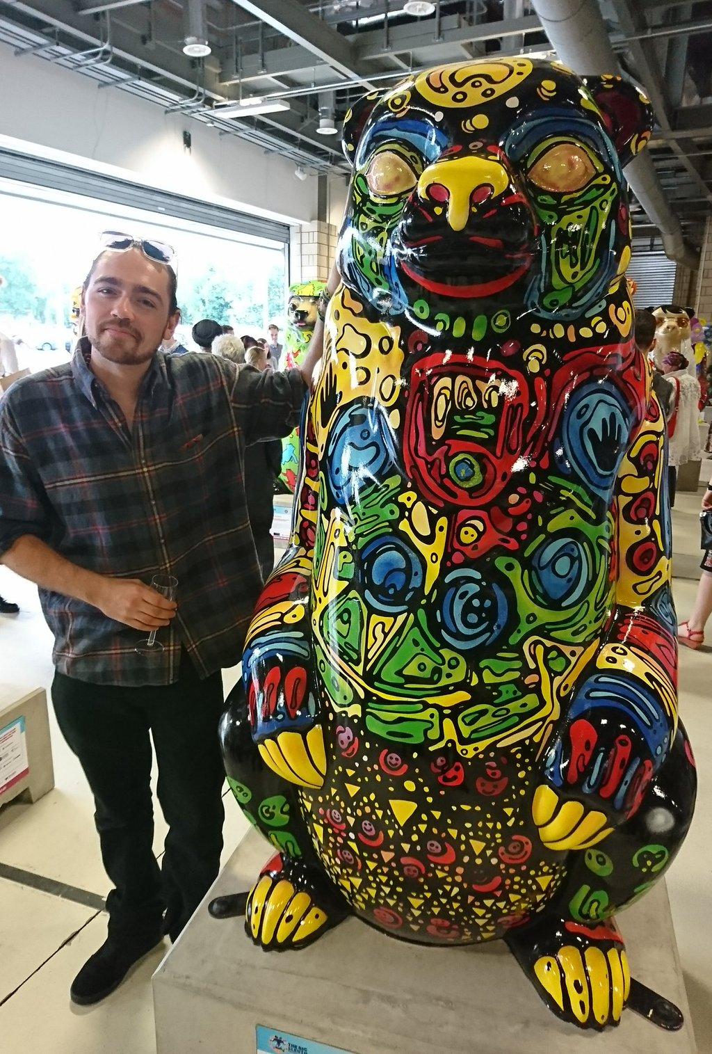 Bear and Artist