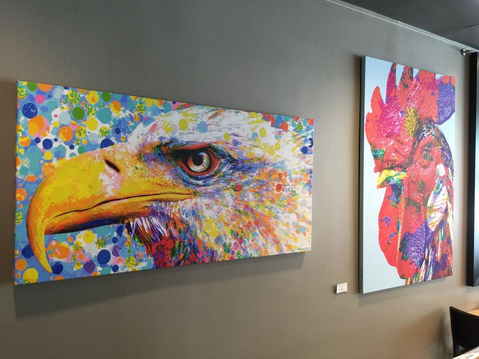Eagle and Rooster