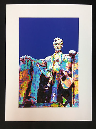 Abraham Lincoln - Blue Background