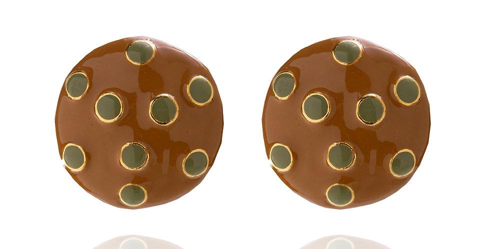 BRINCO BOTON CHOCOLATE C/ ALEC